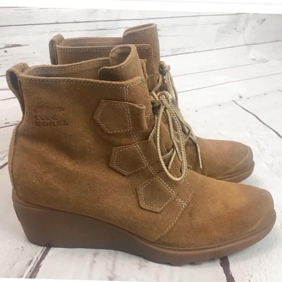 e4c607fdc928 SOREL Toronto Waterproof Wedge Ankle Boots. M 5c05e9579539f730e4c80e48
